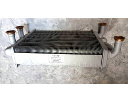 Теплообменник битермический  FERROLI DOMIPROJECT, Fereasy, ARISTON, IMMERGAS, 220mm ; Производитель : WALMEX - Код товара : TB17T