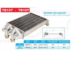 Теплообменник битермический  ECA CALORA BUDERUS DELTA 297 mm ; Производитель : WALMEX - Код товара : TB15T