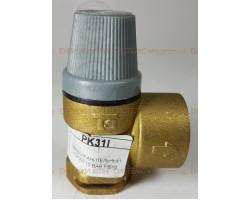 ПРЕДОХРАНИТЕЛЬНЫЙ КЛАПАН (клапан безопасности / Клапан аварийный) латунный 10 BAR под клипсу