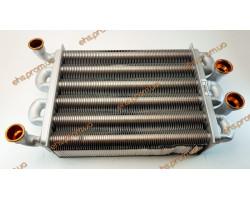 Теплообменник битермический  FERROLI DOMIPROJECT, Fereasy, ARISTON, IMMERGAS, 220mm ; Производитель : КИТАЙ - Код товара : TB18K