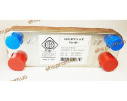 ПЛАСТИННЫЙ  ТЕПЛООБМЕННИК, VAILLANT, VIESSMANN, 12 ПЛАСТИНЫ 210 x 172 x - mm. ; Производитель : EHS - Код товара : PT16T