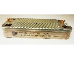 Пластинчастий теплообмінник 12 пластин SWEP сумісний BERETTA PT20I