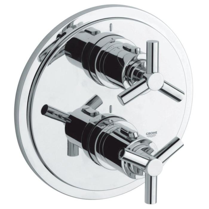 Зовнішня частина термостатичного змішувача для душу Grohe Atrio 19395000 для двох споживачів