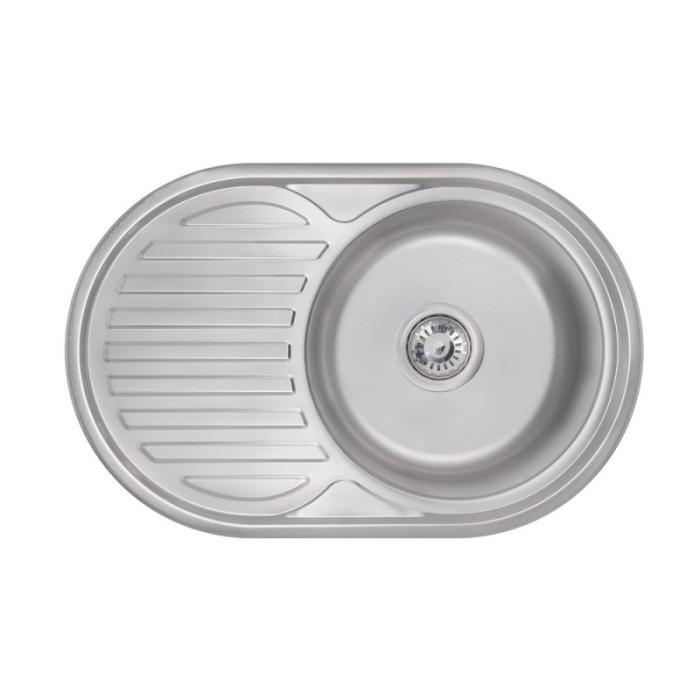 Кухонна мийка Lidz 7750 0,8 мм Satin (LIDZ7750SAT)