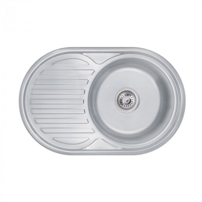 Кухонна мийка Lidz 7750 0,8 мм Decor (LIDZ7750DEC)