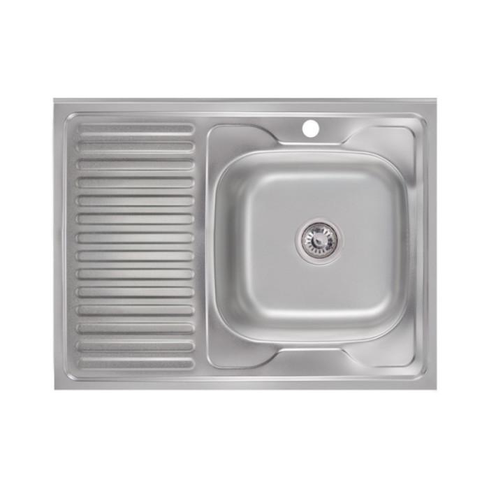 Кухонна мийка Lidz 6080-R 0,6 мм Satin (LIDZ6080R06SAT)