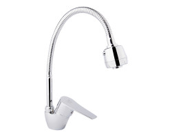 Змішувач для кухні Lidz (CRM) 40 87 008F 4 з рефлекторним виливом