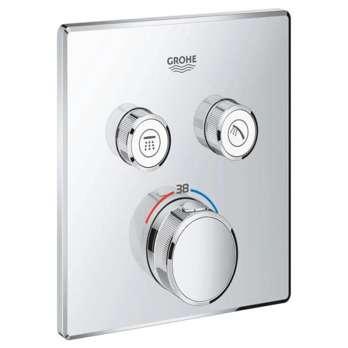 Зовнішня частина термостатичного змішувача для душу Grohe Grohtherm SmartControl 29124000 для двох споживачів
