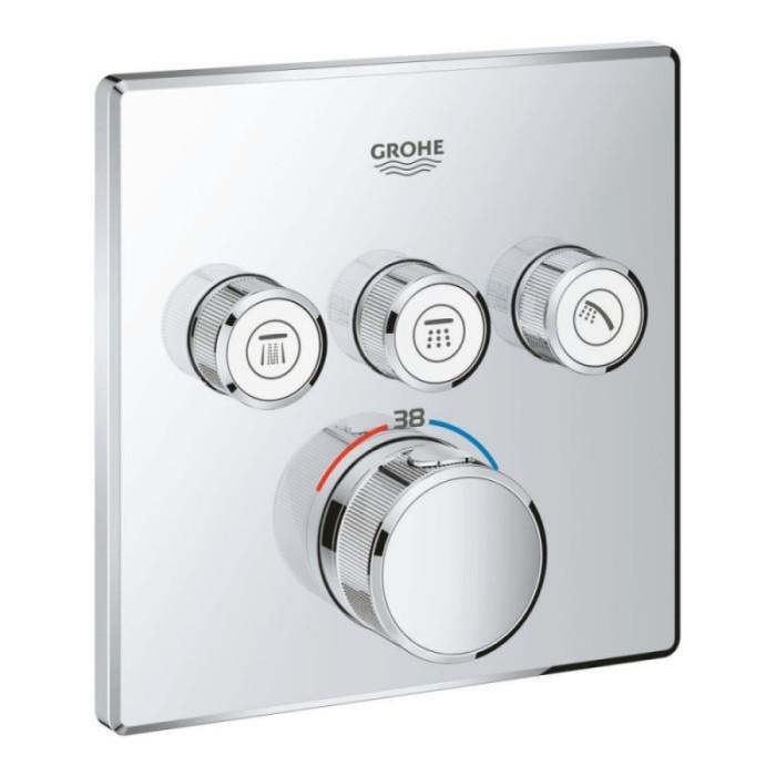 Зовнішня частина термостатичного змішувача для ванни Grohe Grohtherm SmartControl 29126000 для трьох споживачів