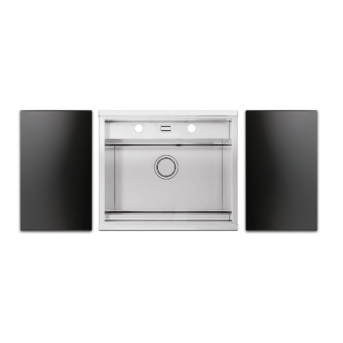 Набір Apell мийка кухонна Regola Satin RE601IKITB + змішувач Telescopic APF1260CR