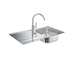Набір Grohe мийка кухонна K200 31562SD0 + змішувач BauEdge 31367000