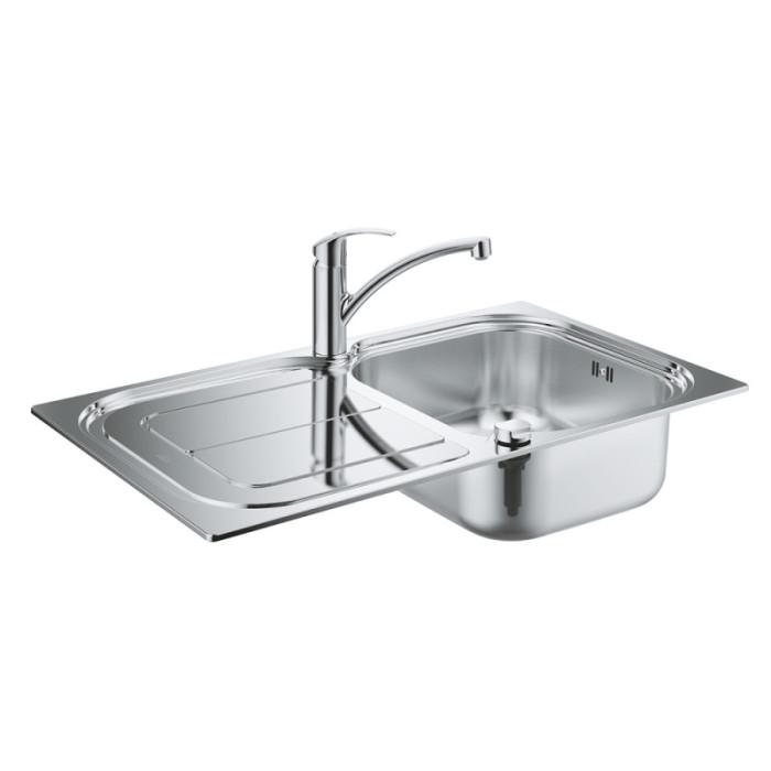 Набір Grohe мийка кухонна K300 31565SD0 + змішувач Eurosmart 33281002
