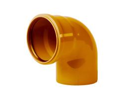 Коліно каналізаційне Інтерпласт 110, 90° (зовнішня)