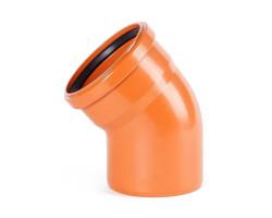Коліно ПВХ каналізаційне 110, 30° (зовнішнє)