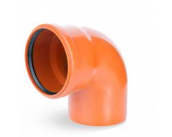 Коліно ПВХ каналізаційне 110, 90° (зовнішнє)