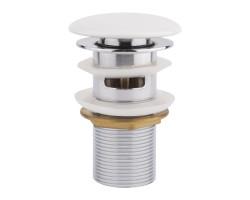 Донний клапан для раковини Qtap F0081 WHI з переливом