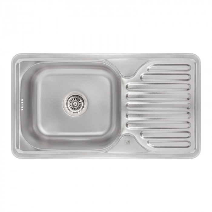 Кухонна мийка Lidz 7642 0,8 мм Micro Decor (LIDZ764208MICDEC)