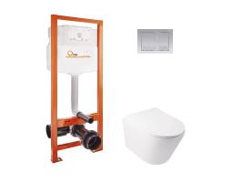 Набір Qtap інсталяція Nest QTNESTM425M06SAT + унітаз з сидінням Swan QT16335178W