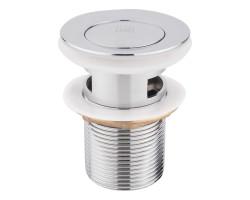 Донний клапан для раковини Lidz (CRM) 47 00 004 00 з переливом