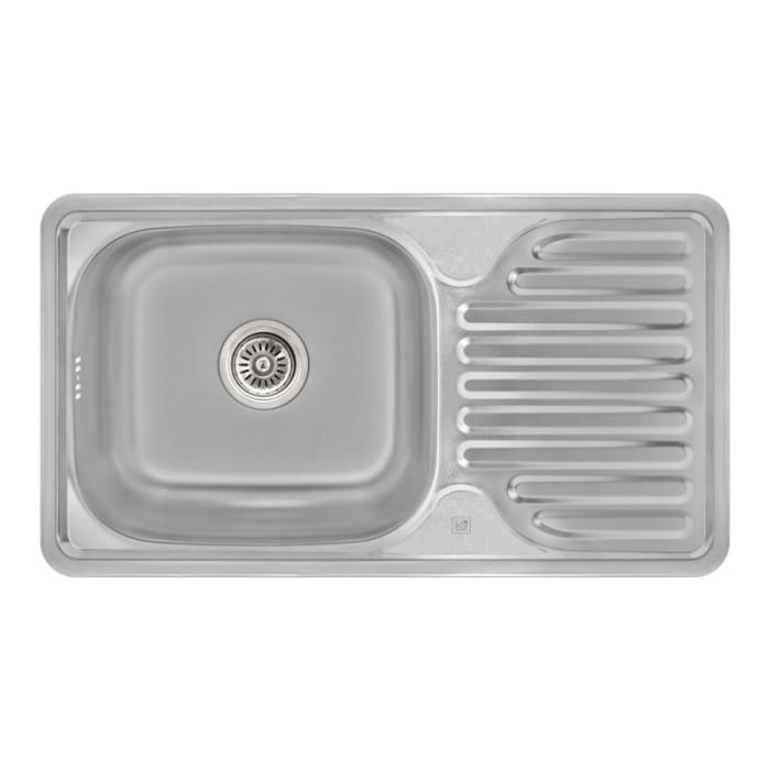 Кухонна мийка Lidz 7642 Satin 0,8 мм (LIDZ764208SAT)