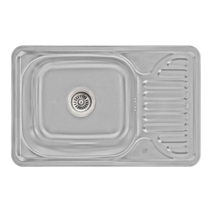 Кухонна мийка Lidz 6642 Micro Decor 0,8 мм (LIDZ664208MICDEC)