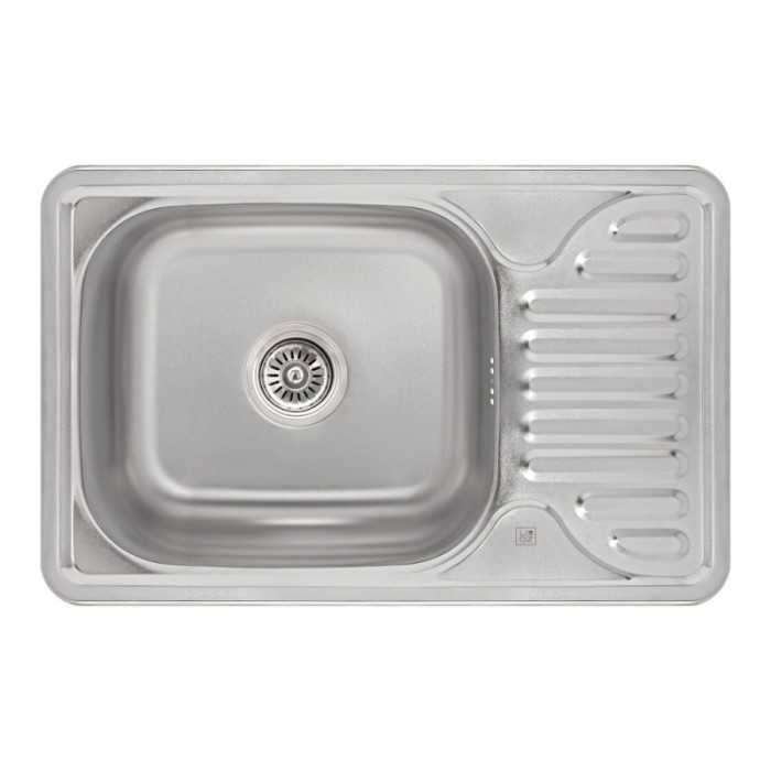 Кухонна мийка Lidz 6642 0,8 мм Satin (LIDZ664208SAT)