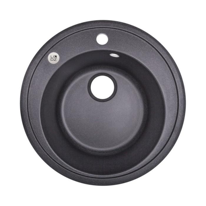 Кухонна мийка Lidz D510/200 BLA-03 (LIDZBLA03D510200)