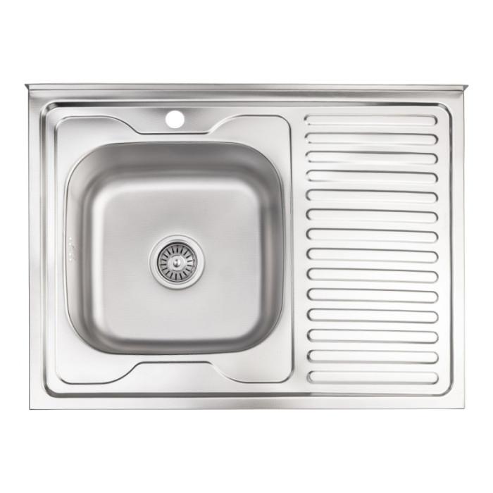 Кухонна мийка Lidz 6080-L 0,6 мм Decor (LIDZ6080DEC06)