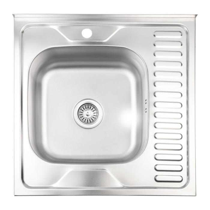 Кухонна мийка Lidz 6060-L 0,8 мм Decor (LIDZ6060LDEC08)