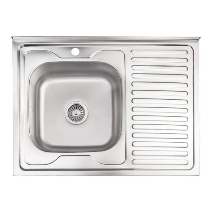 Кухонна мийка Lidz 6080-L 0,8 мм Decor (LIDZ6080LDEC08)