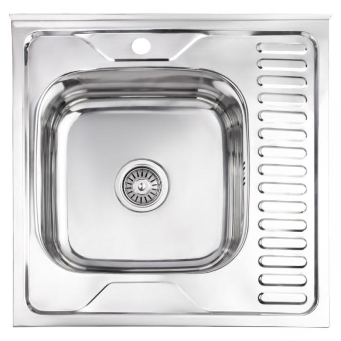 Кухонна мийка Lidz 6060-L Polish 0.6 мм (LIDZ6060LPOL06)