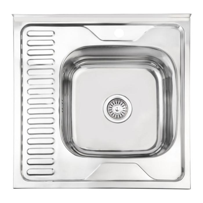 Кухонна мийка Lidz 6060-R 0,6 мм Polish (LIDZ6060RPOL06)