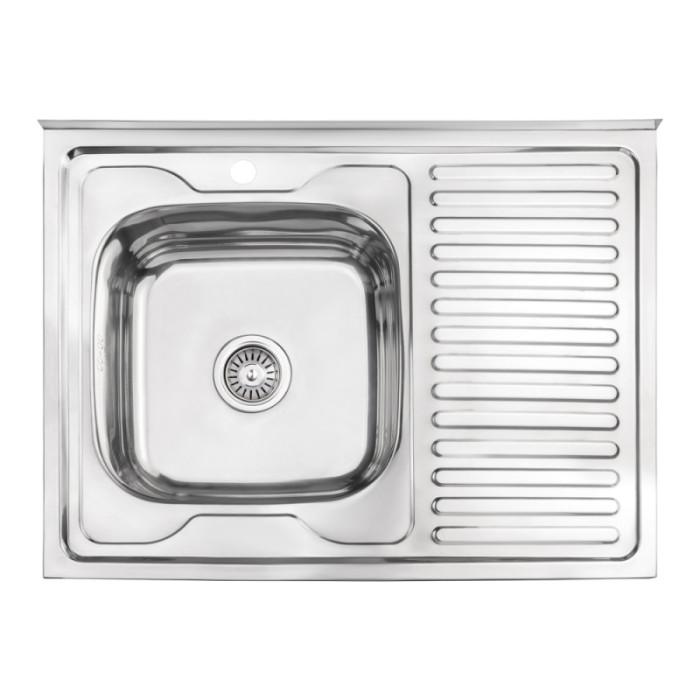 Кухонна мийка Lidz 6080-L Polish 0,6 мм (LIDZ6080LPOL06)