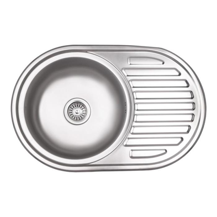 Кухонна мийка Lidz 7750 Micro Decor 0,8 мм (LIDZ7750MDEC)