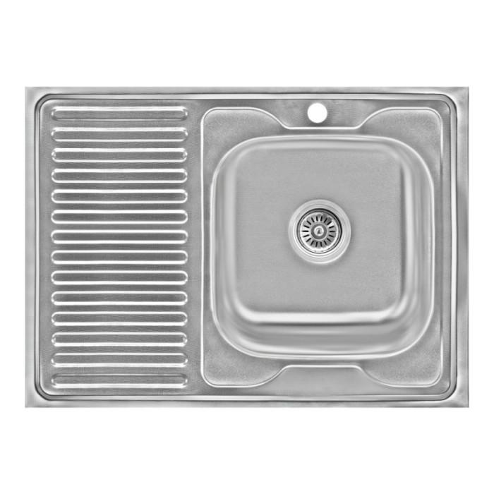 Кухонна мийка Lidz 6080-R Decor 0,6 мм (LIDZ6080RDEC06)