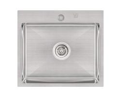 Набір 3 в 1 Lidz кухонна мийка H5045 3.0/1.0 мм Brush + сушарка + дозатор для миючого засобу