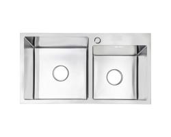Набір 3 в 1 Lidz кухонна мийка H7843 3.0/1.0 мм Brush + сушарка + дозатор для миючого засобу