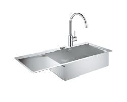 Набір Grohe мийка кухонна K1000 31582SD0 + змішувач Eurosmart Cosmopolitan 32843002