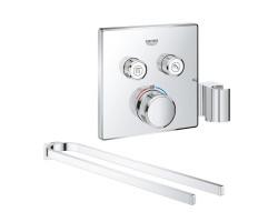 Набір Grohe зовнішня частина термостатичного змішувача для душу Grohtherm SmartControl 29125000 для двох споживачів + тримач для ручників Selection 41059000