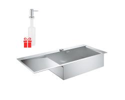 Набір Grohe мийка кухонна K1000 31582SD0 + дозатор для миючого засобу Contemporary 40536000